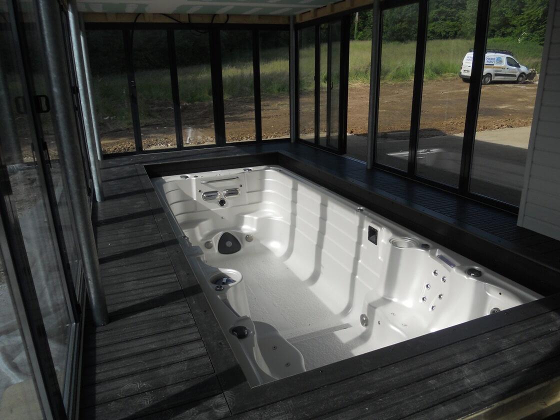 installation poele a bois dans veranda. Black Bedroom Furniture Sets. Home Design Ideas